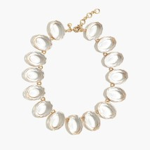 NWT J Crew Oversized Clear Crystal Gem Fashion Statement Necklace - $33.99