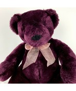 "Burgundy Sitting Bear by Fiesta Plush Stuffed Animal Toy Bow 10.5"" - $19.79"