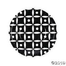 Black Geometric Dinner Plates (8Pc) - $3.61