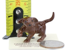 Hagen Renaker Dog Labrador Retriever Puppy Chocolate image 2