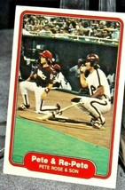 1982 Topps Pete & Re-Pete Pete Rose and Son AA20-BTC3033 Baseball Trading Cards  image 2