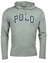 POLO RALPH LAUREN Big & Tall Mens Gray Letterman Hoodie L/S T-Shirt NWT 3XB - $56.30 CAD