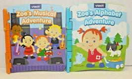 Vtech Touch & Learn Storytime Books Set Of 2 Zoe's Alphabet Musical Adventure - $10.89
