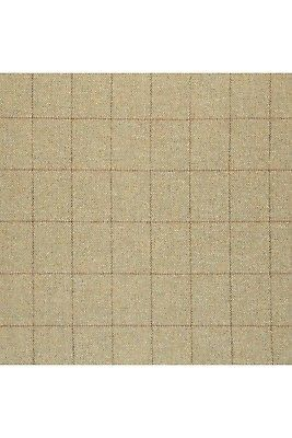 3 yds Johnstons of Elgin Upholstery Fabric Estate Window Pane Tweed Green PM