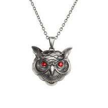 Pacific Giftware Wise Owl Head Pewter Necklace Jewelry- Mystica Collection - $13.06