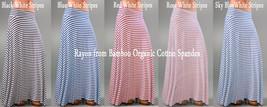 Women's Print Color Maxi Full Length Skirts Bamboo Rayon Cotton Spandex Organic - $65.00
