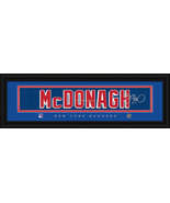 Ryan McDonagh New York Rangers Player Signature Stitched Jersey Framed P... - $39.95