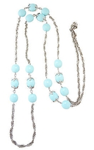 1960s Trifari Pastel-Blue Sautoir Runway Couture Necklace - €127,08 EUR