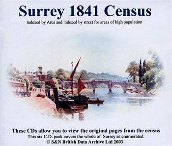 Primary image for CD: Surrey 1841 Census [UK] 6 CD set