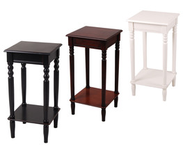 Urbanest Solid Wood Square Accent Side End Table with Bottom Storage Shelf - $79.99