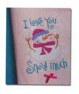 I Love You Snow Much snowman cross stitch chart Barbara Ana Designs - $8.10