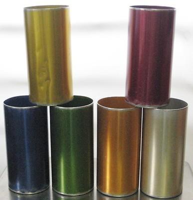 Aluminum Anodized 6 TUMBLER Glasses Perma Hues Colors