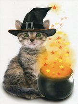 "Greeting Card Halloween ""Hope Halloween's a special blend of magic.."" - $1.50"