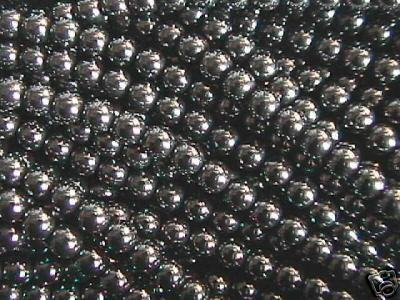 Primary image for 4mm Hematite Round Beads (100 +/- beads per strand)
