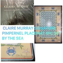 NEW 4PC CLAIRE MURRAY PIMPERNEL CARDBOARD HARD PLACEMATS BY THE SEA NIB - $46.44
