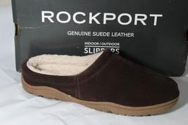 ROCKPORT INDOOR/OUTDOOR SLIP ON MEN'S SLIPPERS, SIZE 8.5-9, BROWN, R882BRN - $78.88 CAD
