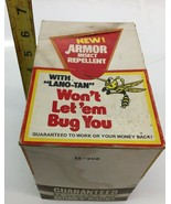 Armor Insect Repellent With Lano Tan BUCK STOP Vintage Advertising box w... - $46.74