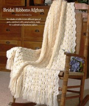 W669 Crochet PATTERN ONLY Bridal Ribbons Afghan Throw Wedding Pattern - $7.50