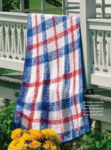 W684 Crochet PATTERN ONLY Liberty Tartan Afghan Throw Pattern Patriotic ... - $7.50