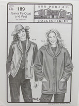 Stretch & Sew Sewing Pattern- Ann Person Collectibles- #189 Santa Fe Coa... - $11.50