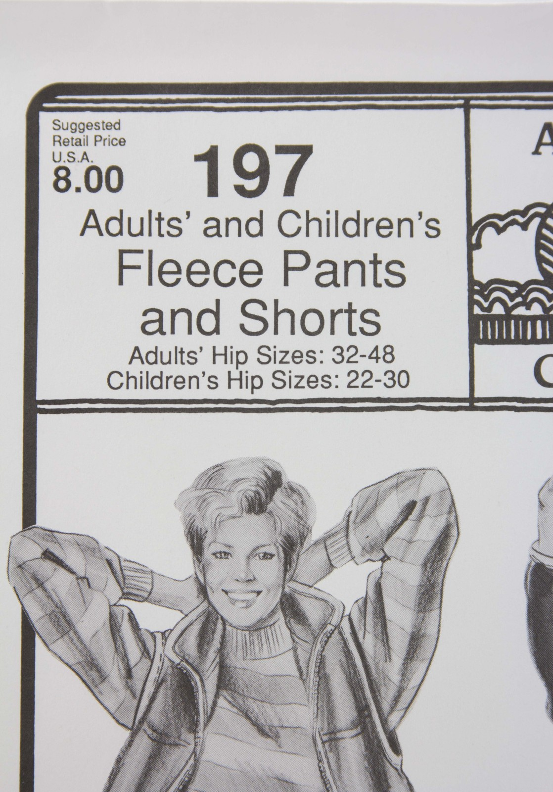 Stretch & Sew Sewing Pattern- Ann Person  #197 Fleece Pants/Shorts - Adults/Kids