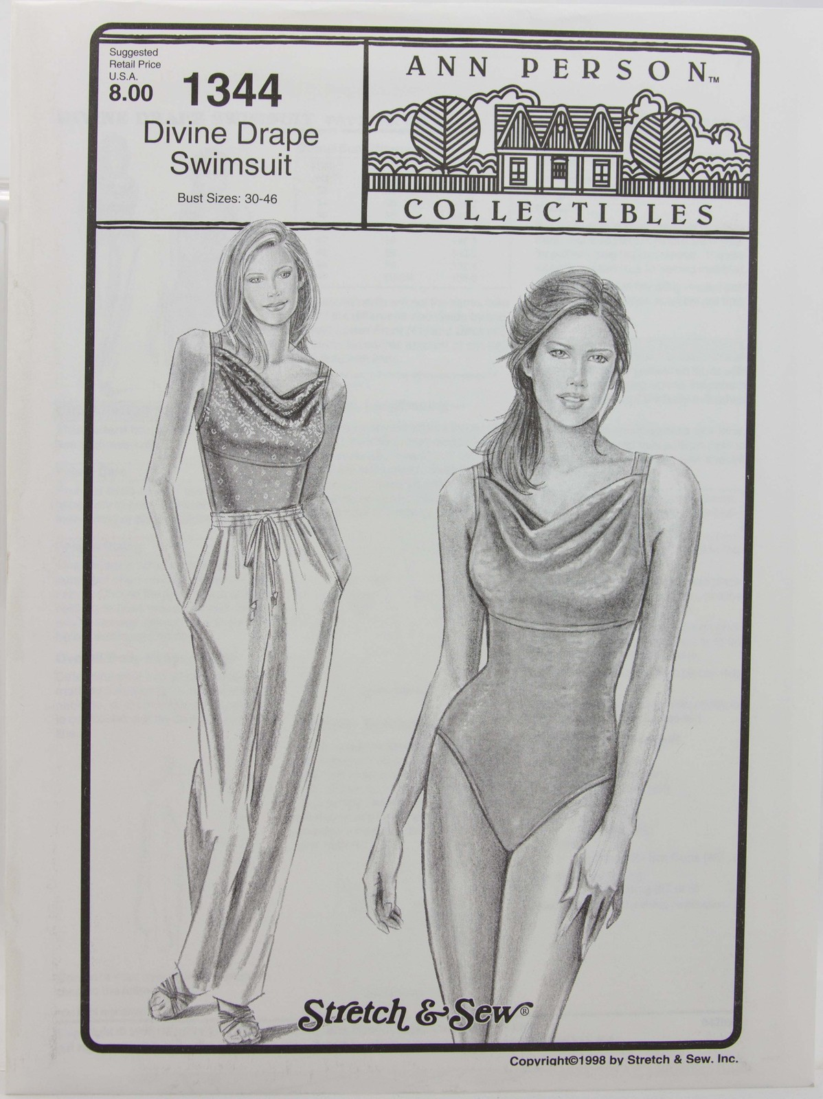 Stretch & Sew Sewing Pattern- Ann Person #1344 - Divine Drape Swimsuit