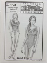 Stretch & Sew Sewing Pattern- Ann Person #1344 - Divine Drape Swimsuit - $11.50