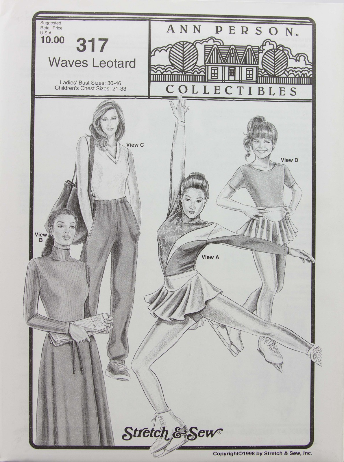 Stretch & Sew Sewing Pattern- Ann Person Collectibles #317 - Waves Leotard