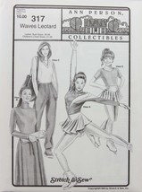 Stretch & Sew Sewing Pattern- Ann Person Collectibles #317 - Waves Leotard - $13.50