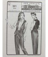 Stretch & Sew Sewing Pattern- Ann Person Collectibles #321 - Vest - $10.50