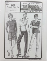 Stretch & Sew Sewing Pattern- Ann Person Collectibles #324 - French Trim... - $11.50