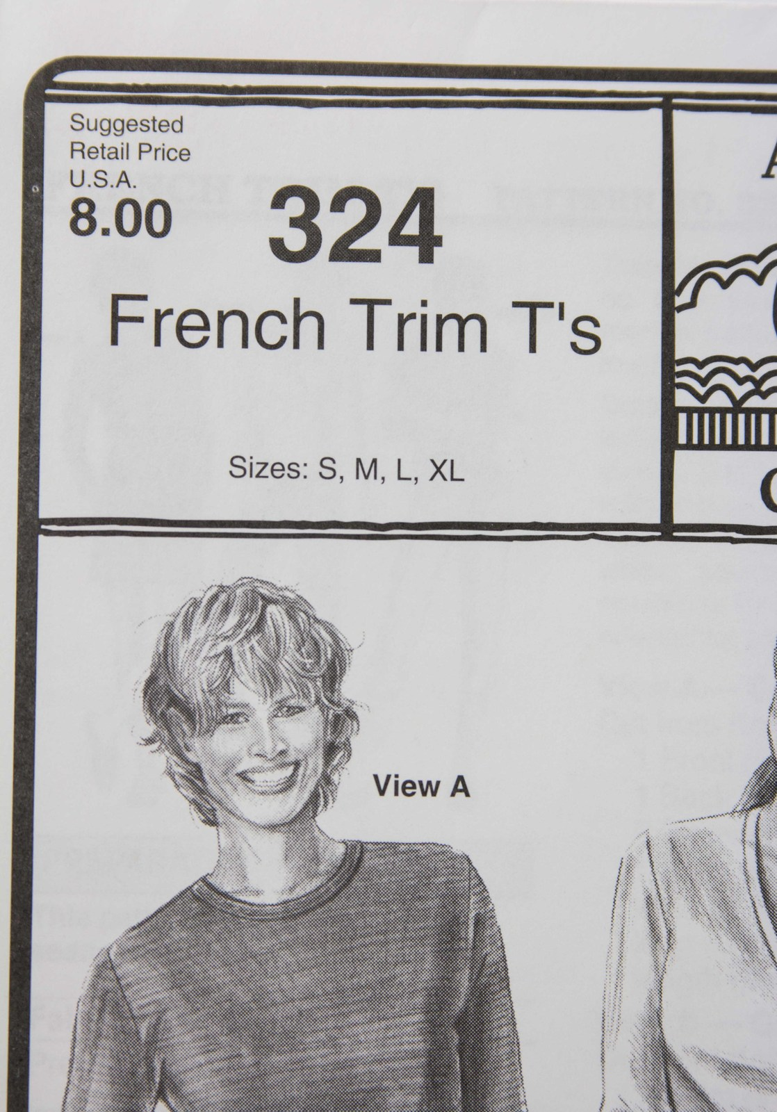 Stretch & Sew Sewing Pattern- Ann Person Collectibles #324 - French Trim T's