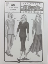 Stretch & Sew Sewing Pattern Ann Person Collectibles #325  Double Front ... - $11.50