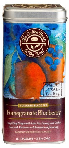 The Coffee Bean & Tea Leaf Pomegranate Blueberry Green, Oolong, Black Teas, 2...