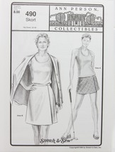 Stretch & Sew Sewing Pattern- Ann Person Collectibles #490 - Skort - $11.50