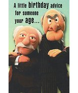 """Greeting Card Birthday Muppets Humor """"A Little Birthday Advice for Someo... - $3.99"""