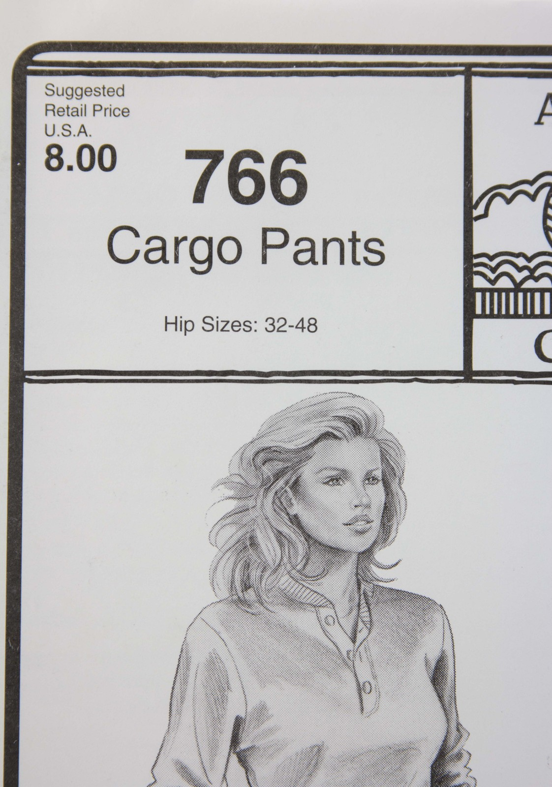 Stretch & Sew Sewing Pattern- Ann Person Collectibles #766 - Cargo Pants
