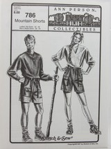 Stretch & Sew Sewing Pattern- Ann Person Collectibles #786 Mountain Shorts - $11.50