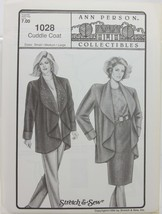 Stretch & Sew Sewing Pattern- Ann Person Collectibles #1028 - Cuddle Coat - $10.50