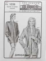 Stretch & Sew - Ann Person Collectibles #1039 - Quick 'n Easy Jacket - $11.50