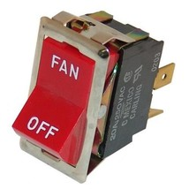 Red Rocker Fan Switch 7/8 X 1 1/2 Dpst 20 A/125 V For Montague Oven 115 Aei 421308 - $41.00