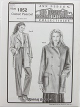 Stretch & Sew Sewing Pattern- Ann Person Collectibles #1052 - Peacoat - $13.50