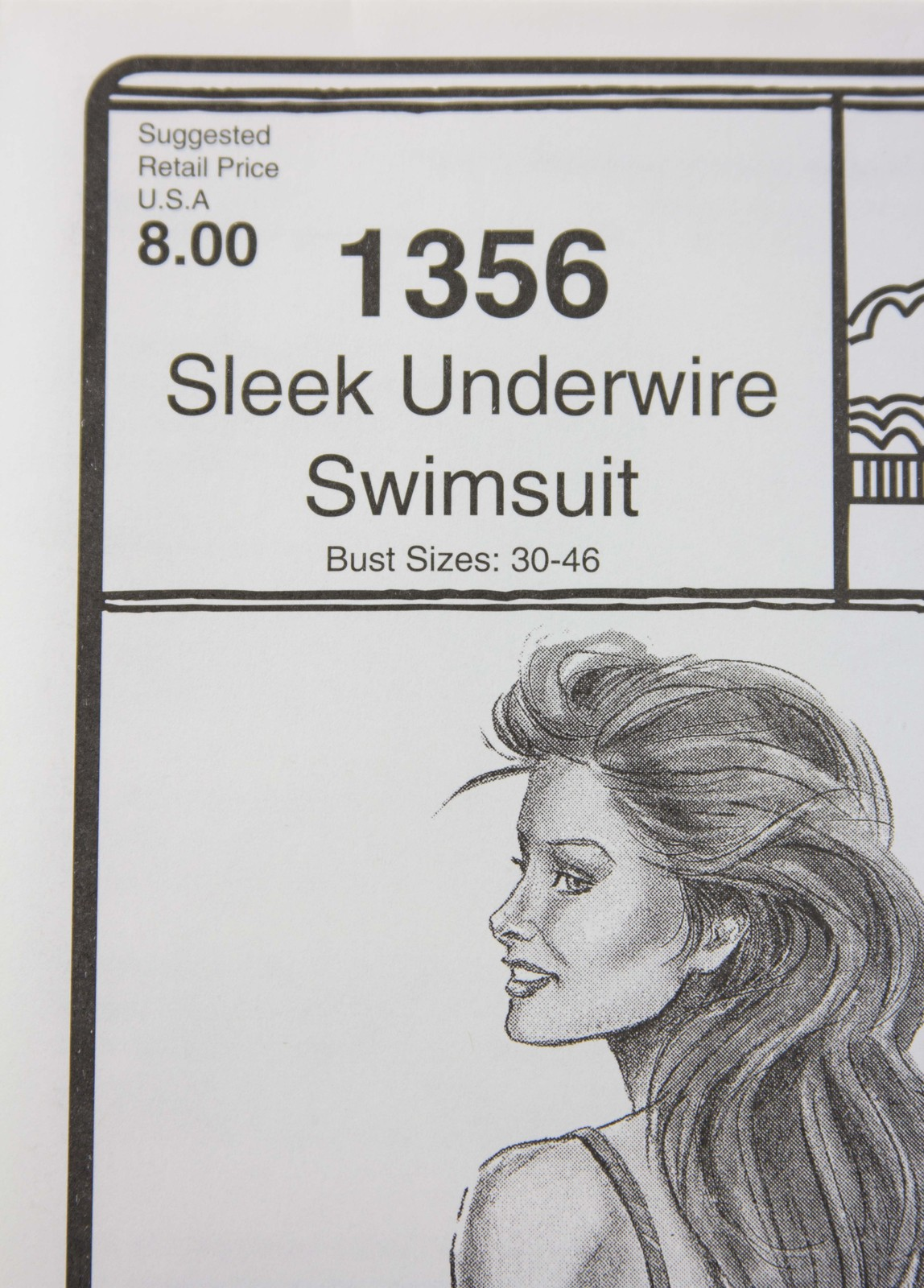 Stretch & Sew Sewing Pattern- Ann Person  #1356 - Sleek Underwire Swimsuit