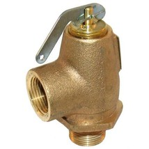 "VALVE STEAM PRESSURE SAFETY  RELIEF 3/4"" NPT Brass 30 PSI 550 LB/HR 561315 - $100.00"