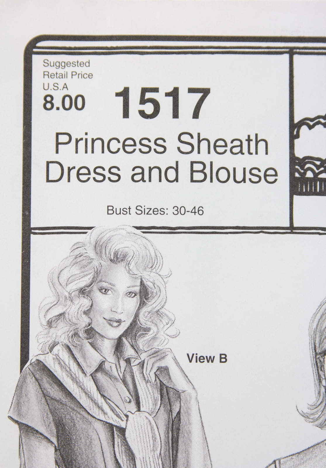 Stretch & Sew Sewing Pattern- Ann Person #1517 -Princess Sheath Dress and Blouse