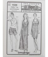 Stretch & Sew Sewing Pattern-Ann Person Collectibles #1534 Halter Top & ... - $11.50