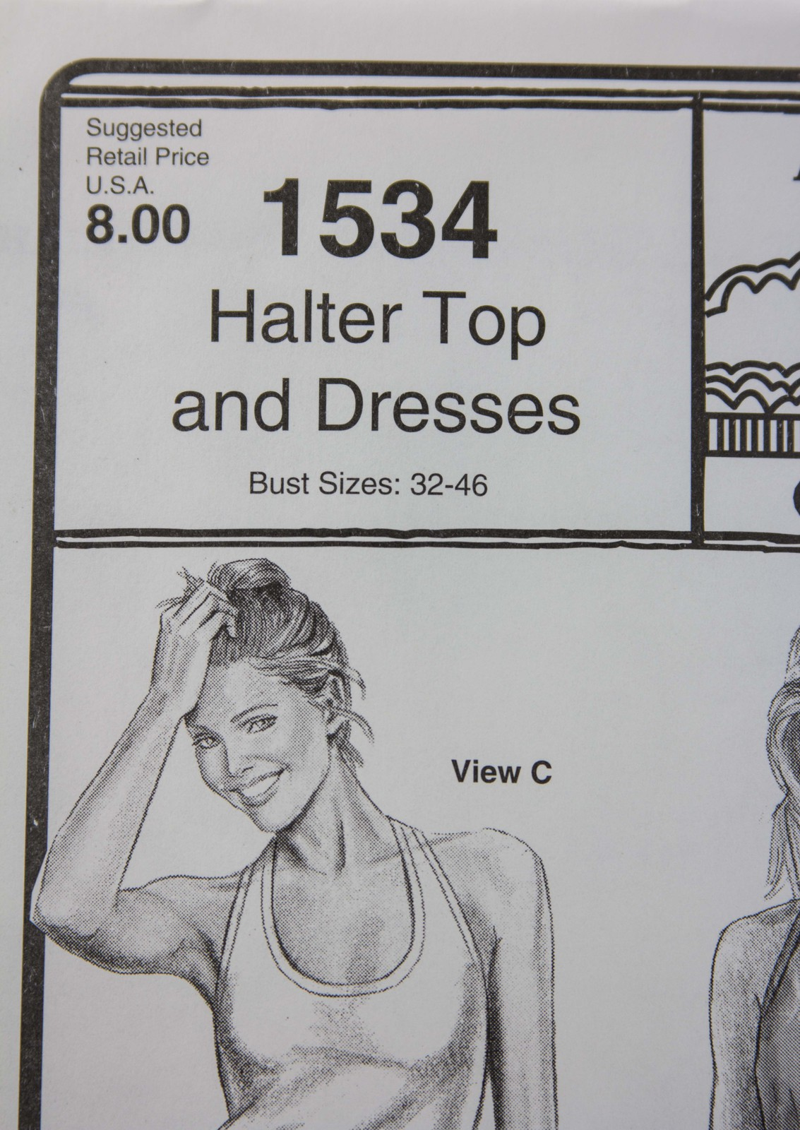 Stretch & Sew Sewing Pattern-Ann Person Collectibles #1534 Halter Top & Dresses