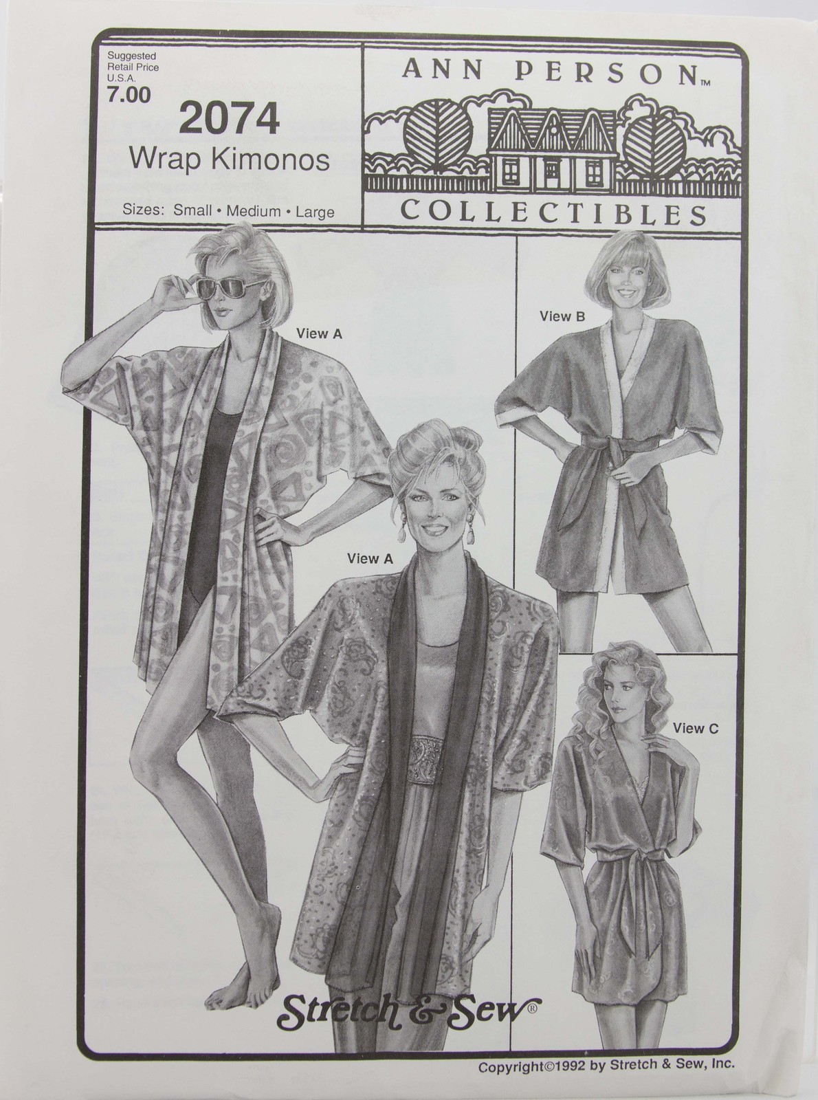 Stretch & Sew - Ann Person Collectibles #2074 Wrap Kimonos