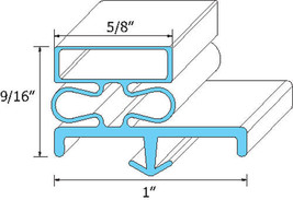 "GASKET DOOR 23 1/8"" X 57 1/2"" Snap-In Mount Gray for Victory V-Series VF 741150 - $54.00"