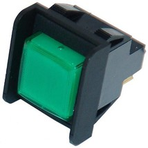 Momentary Switch Green On/Off Push Button 125/250 V 10 Amp Roundup Steamer 421517 - $42.00